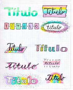 Bullet Journal School, Bullet Journal Headers, Bullet Journal Cover Ideas, Bullet Journal Banner, Bullet Journal Lettering Ideas, Bullet Journal Notebook, Bullet Journal Inspiration, Hand Lettering Tutorial, Bullet Journal Aesthetic