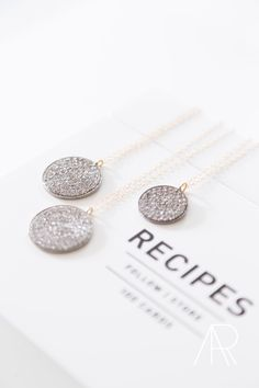 Brooke Worthington pavè diamond discs | photo by Alyssa Rosenheck Photography