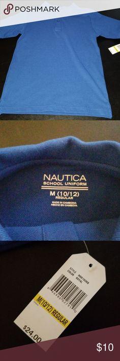 NWT Royal Blue Nautica Boys Polo New with tags  Nautica boys M 10/12 Polo Royal Blue Nautica Shirts & Tops Polos