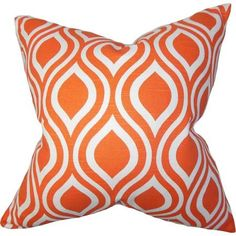 orange geometric throw pillows - Google Search
