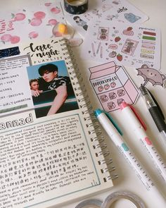An old spread ft. some new stickers 🍧 seeing all these pretty journal spreads from my friends makes me regret not bringing my journal ahhh Bullet Journal Spread, My Journal, Bullet Journal Inspiration, Journal Pages, Bullet Journals, Bujo, Journal Aesthetic, New Sticker, Planner