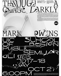 "437 Likes, 4 Comments - Pouya (@pouyaahmadi_com) on Instagram: ""THROUGH A GLASS DARKLY: MARK OWENS Tomorrow at UIC School of Design *Free and Open to Public*…"""