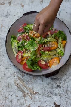 Little Gem Salad with Mustard Seed Buttermilk Vinaigrette | QUITOKEETO
