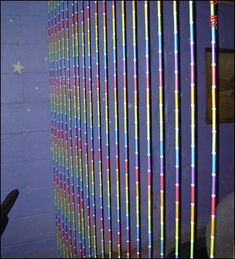 Beaded Straw Curtain - HOME SWEET HOME - I've been admiring the craftiness here for a while, but this is my first post. Here is a beaded straw curtain that I made last year.
