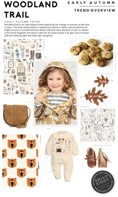 Emily Kiddy: Autumn | Winter 2017 / 18 - Woodland Trail - Trend Overview (Boys|Girls)