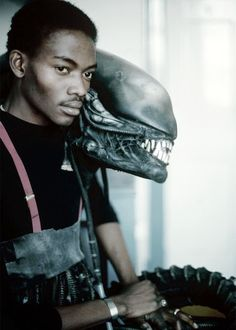 "Bolaji Badejo. The striking 6""10 Nigerian Actor behind the iconic 1979 ALIEN."