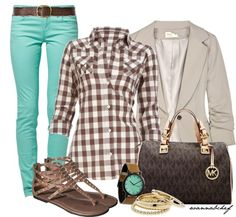 """""""Chocolate Mint"""" by wannabchef on Polyvore  I want to find this shirt without paying $225!!!"""