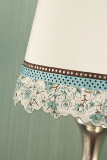Como decorar lamparas de mesa