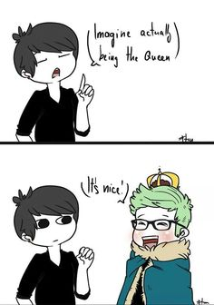 Chibi dan and tyler bc Tyler is a queen