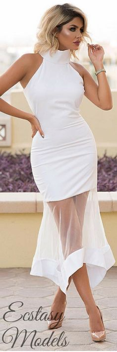 White Dress by @thekript , Shoes by @louboutinworld // Fashion Look by  sheidafashionista