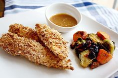 Baked Panko Crusted Chicken Strips with Apricot Dijon Mustard Dip by In Sock Monkey Slippers