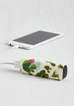 Cactus What You Preach Battery Pack in Desert. You always advise pals to keep their phones ready for picture-perfect moments - so of course you do the same by toting this portable charger! #multi #modcloth