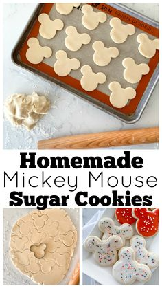 Mickey Mouse Sugar Cookie Recipe Any Disney fan will go completely nuts for these Mickey Mouse Sugar Cookies. This fail-proof sugar cookie recipe is insanely delicious! Theme Mickey, Mickey Party, Mickey Mouse Birthday, 2nd Birthday, Birthday Ideas, Elmo Party, Mickey Mouse Parties, Dinosaur Party, Dinosaur Birthday