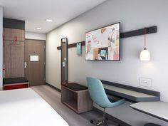 A look at creative hotel guestroom storage spaces Design Boutique, Room Interior, Interior Design, Interior Modern, Kitchen Interior, Hotel Room Design, Hotel Branding, Storage Spaces, Guest Room