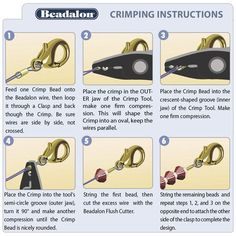 How to use crimp beads | tutorial | www.bykaro.nl for your jewelry making supplies
