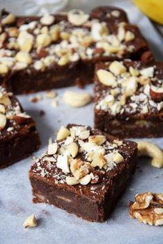 fit brownie z bananami