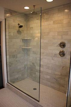Design Of The Doorless Walk In Shower