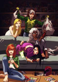 Art by Dmitry Grozov aka Ahriman Marvel Girls, Marvel Heroes, Marvel Avengers, Comic Movies, Comic Books Art, Comic Art, Xmen, All New Wolverine, Hq Dc