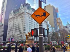 Horse & Carriage sign outside The Plaza Hotel-sven vik
