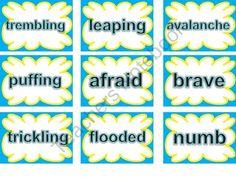 SRA Imagine It Words Cards (2nd Grade Unit 5)