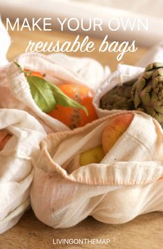 12 random things to start making yourself Make Your Own, Make It Yourself, How To Make, Reusable Bags, Fruits And Veggies, Small Bags, Fresh Rolls, Fresh Fruit, Super Easy