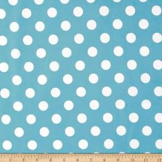 Riley Blake Flannel Basics Dots Medium Aqua from @fabricdotcom  Designed for Riley Blake Designs, this single napped (brushed on face side only) flannel is perfect for quilting and craft projects as well as apparel and home décor accents. Colors include white and aqua.