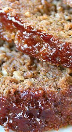 BBQ Meatloaf - Delicious, flavorful, and one of the best tasting meatloaf recipes ever! A great comfort food that everyone is sure to enjoy! Homemade Meatloaf, Bbq Meatloaf, Homemade Bbq, Best Tasting Meatloaf Recipe, Meatloaf Recipes, Entree Recipes, Meat Recipes, Cooking Recipes, Slow Cooker Mince