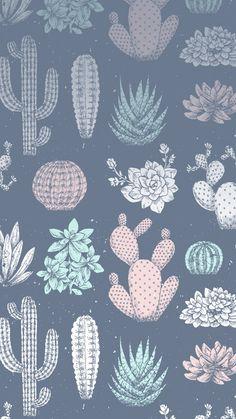Cacti cactus wallpaper saver wallpaper iphone lockscreen - b Trendy Wallpaper, Cute Wallpaper Backgrounds, Tumblr Wallpaper, Wallpaper Iphone Cute, Pretty Wallpapers, New Wallpaper, Aesthetic Iphone Wallpaper, Mobile Wallpaper, Pattern Wallpaper