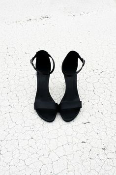 Little black heels for a little black dress.