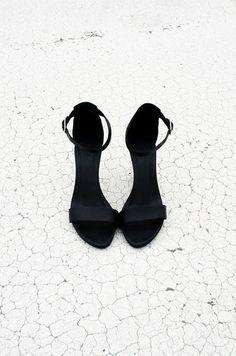Little black heels for a little black dress.