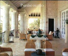 Casa de Oscar de la Renta en Punta Cana construida en piedra de coral. Es la que sustituyó a la casa de La Romana de la foto anterior.