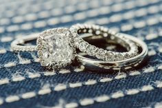 #Engagement Ring #WeddingBand | See the wedding on #SMP Weddings  ~ http://www.stylemepretty.com/massachusetts-weddings/nantucket/2013/06/25/nantucket-wedding-from-soiree-floral-and-zofia-co-photography  Zofia & Co. Photography