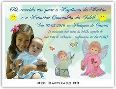 Convite de batizado e aniversário juntos continue vendo...