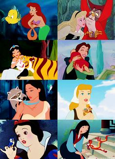 okay this is cute. except for the fact that i don't think that flounder and mushu really count as pets...