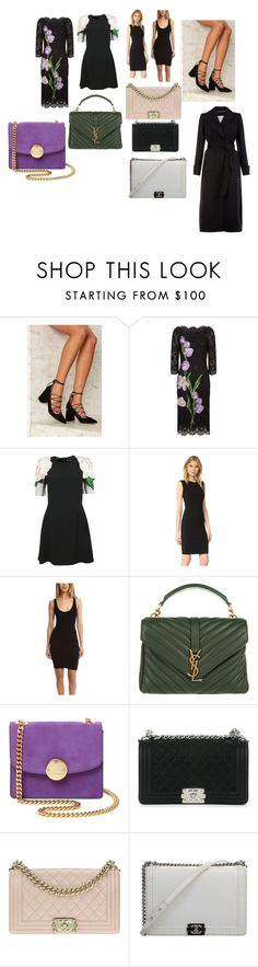 """""""4 dresses,5 bags,1 sandal,1 coat 🍒"""" by alessiaaaaaaaaa ❤ liked on Polyvore featuring Dolce&Gabbana, Vince, Enza Costa, Yves Saint Laurent, Marc Jacobs, Chanel and Monsoon"""