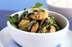 Curry coconut prawns