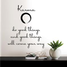 Wall Pops Black Karma Quote Wall Decal – The Home Depot - wallquotes Mottos To Live By, Quotes To Live By, Me Quotes, Karma Quotes Truths, Hand Quotes, Gita Quotes, Reality Quotes, Daily Quotes, Bible Quotes