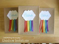 más y más manualidades: Ideas de todos los colores para una fiesta con tema arcoiris