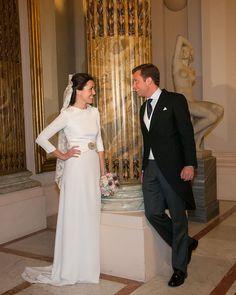 La boda de Ana con vestido de Bebas Closet   321mecaso