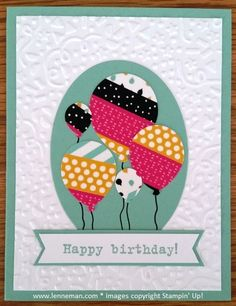Party With Cake It's My Party Washi Tape Balloon Bouquet Birthday- Dena Lenneman, Stampin' Up! Demonstrator