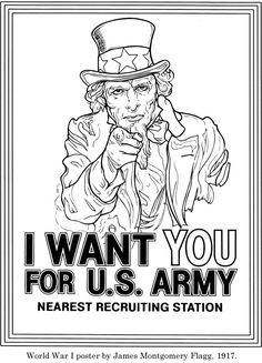 Printable Uncle Sam coloring page Free PDF download at http