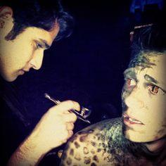 Tyler's also the makeup artist.
