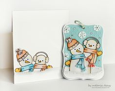 You're A Cool Friend by Melania Deasy #stamping #snowman #lawnfawn