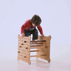 GO is a piece of furniture, designed by SESTAVI, that actually serves several different functions: a chair, toy, stepping stool, basket, table, or more.
