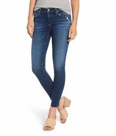 c879838eee9a AG The Legging Raw Hem Ankle Skinny Jeans (12 Years Blue Dusk)
