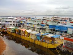 The port of Manaus...busy, busy, busy!
