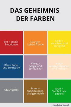 Die 9 besten Bilder von Farben Bedeutung in 2018 | Farbenlehre ...