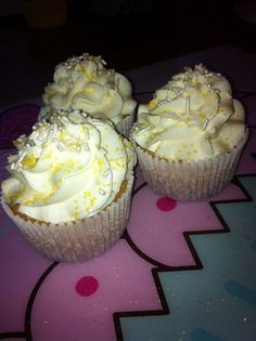 """""""Lemon Cream Cupcakes"""" #spring #recipe #lemon"""