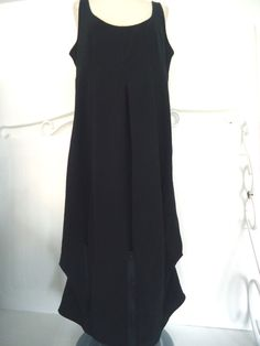 WOMENS BLACK SLEEVELESS MAXI MOLOKO DRESS FRENCH DESIGNER SIZE XXL ZIPPER DETAIL