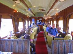 With ticket prices at about 100 bucks a pop, the Wine Train might not be on my list, but some of their special events may redeem the expense:family date night (Fourth of July and Santa train
